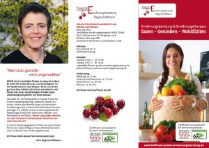 Flyer Regina Hoffmann Ernährungsberatung